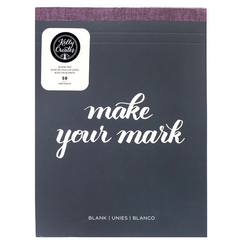 Kelly Creates - Blank Paper Pad - 8.5 x 11 - 50 Pages