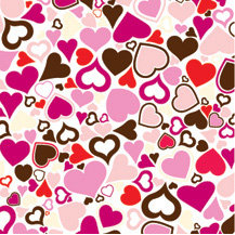 American Crafts - Romance Collection - 12x12 Paper - Crazy Love