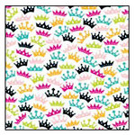 American Crafts - Teen Collection - 12 x 12 Double Sided Glitter Paper - Homecoming Queen