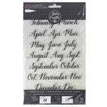 Kelly Creates - Clear Acrylic Stamps - Traceable - Months