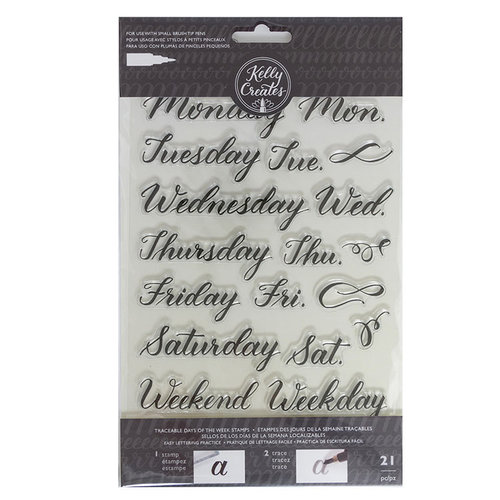 Kelly Creates - Clear Acrylic Stamps - Traceable - Days of the Week