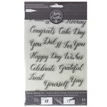 Kelly Creates - Clear Acrylic Stamps - Traceable - Celebration