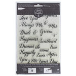 Kelly Creates - Clear Acrylic Stamps - Traceable - Wedding