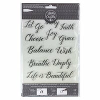 Kelly Creates - Clear Acrylic Stamps - Traceable - Quotes 1