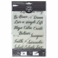 Kelly Creates - Clear Acrylic Stamps - Traceable - Quotes 3