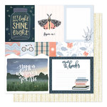 1 Canoe 2 - Twilight Collection - 12 x 12 Double Sided Paper - Field Notes