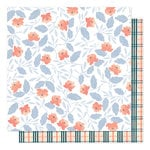1canoe2 - Twilight Collection - 12 x 12 Double Sided Paper - Twilight Blooms