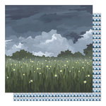 1canoe2 - Twilight Collection - 12 x 12 Double Sided Paper - Fireflies in the Garden