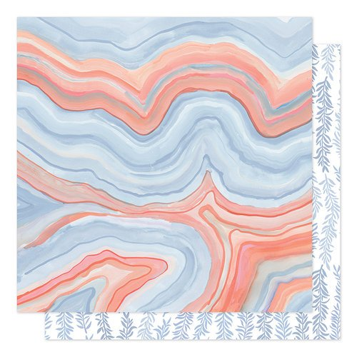 1canoe2 - Twilight Collection - 12 x 12 Double Sided Paper - Twilight Marble