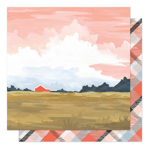 1canoe2 - Twilight Collection - 12 x 12 Double Sided Paper - Twilight Landscape