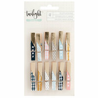 1canoe2 - Twilight Collection - Clothespins with Foil Accents