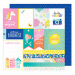 American Crafts - Stay Colorful Collection - 12 x 12 Double Sided Paper - Jive Talkin