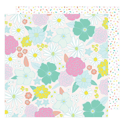 American Crafts - Stay Colorful Collection - 12 x 12 Double Sided Paper - Far out