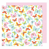 American Crafts - Stay Colorful Collection - 12 x 12 Double Sided Paper - Farrah Forever