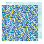 American Crafts - Stay Colorful Collection - 12 x 12 Double Sided Paper - Bell Bottom Blue