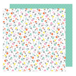 American Crafts - Stay Colorful Collection - 12 x 12 Double Sided Paper - Flower Child