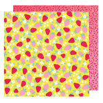 American Crafts - Stay Colorful Collection - 12 x 12 Double Sided Paper - Retro Garden