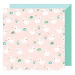 American Crafts - Stay Colorful Collection - 12 x 12 Double Sided Paper - Zooky Zooky