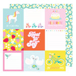 American Crafts - Stay Colorful Collection - 12 x 12 Double Sided Paper - Banana Seat