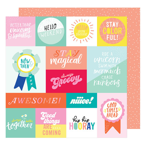American Crafts - Stay Colorful Collection - 12 x 12 Double Sided Paper - Radical