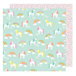 American Crafts - Stay Colorful Collection - 12 x 12 Double Sided Paper - Gimme Five