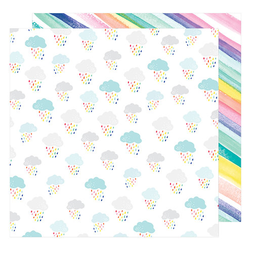 American Crafts - Stay Colorful Collection - 12 x 12 Double Sided Paper - Awesome Possum