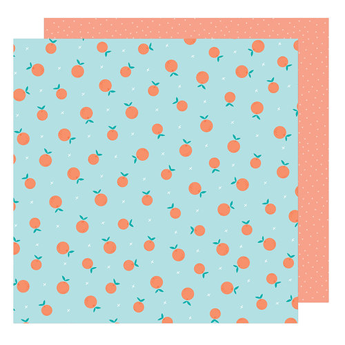 American Crafts - Stay Colorful Collection - 12 x 12 Double Sided Paper - Peace sign