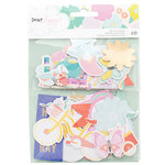 American Crafts - Stay Colorful Collection - Ephemera with Foil Accents