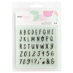 American Crafts - Stay Colorful Collection - Clear Acrylic Stamps - Alphabet