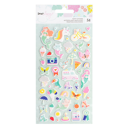 American Crafts - Stay Colorful Collection - Puffy Stickers