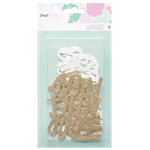 American Crafts - Stay Colorful Collection - Die Cut Cardstock Pieces with Glitter Accents - Words
