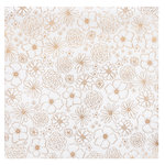 American Crafts - Stay Colorful Collection - 12 x 12 Vellum Paper with Foil Accents