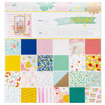 American Crafts - Stay Colorful Collection - 12 x 12 Paper Pad with Foil Accents