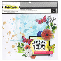 American Crafts - Color Kaleidoscope Collection - 12 x 12 Paper Pad - Mixed Media