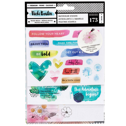 American Crafts - Field Notes Collection - Watercolor Sticker Book