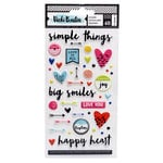 American Crafts - Field Notes Collection - Puffy Sticker Sheet