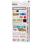 American Crafts - Field Notes Collection - Thickers - Chipboard - Foil - Phrases