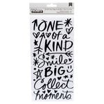 American Crafts - Field Notes Collection - Thickers - Chipboard - One of a Kind - Black