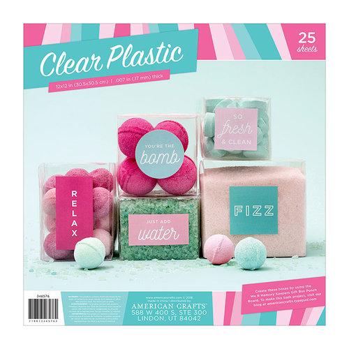 American Crafts - 12 x 12 Clear Acetate - 25 Pack
