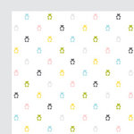 American Crafts - Baby Collection - 12 x 12 Double Sided Paper - Baby Bunting, CLEARANCE