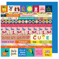 American Crafts - Box of Crayons Collection - 12 x 12 Double Sided Paper - All the Things