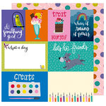 American Crafts - Box of Crayons Collection - 12 x 12 Double Sided Paper - Treat Yourself
