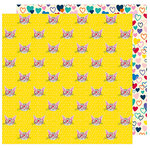 American Crafts - Box of Crayons Collection - 12 x 12 Double Sided Paper - Cat's Meow