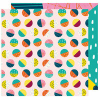 American Crafts - Box of Crayons Collection - 12 x 12 Double Sided Paper - On A Roll