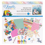 American Crafts - Box of Crayons Collection - 12 x 12 Project Pad with Foil Accents