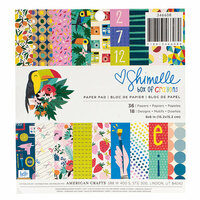 American Crafts - Box of Crayons Collection - 6 x 6 Paper Pad