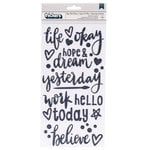 American Crafts - Box of Crayons Collection - Thickers - Glitter Foam - Phrase - Hope and Dream