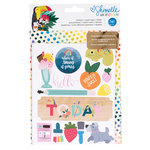 American Crafts - Box of Crayons Collection - Sticker and Washi Book