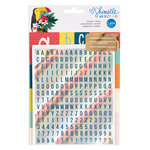 American Crafts - Box of Crayons Collection - Alpha Sticker Folder