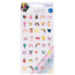 American Crafts - Box of Crayons Collection - Mini Puffy Stickers